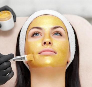 Afrina Face Mask Golden