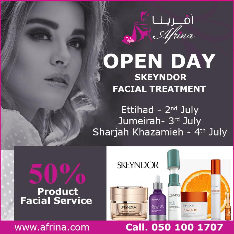 Open Day Skeyndor Facial Treatment in Afrina Beauty Club