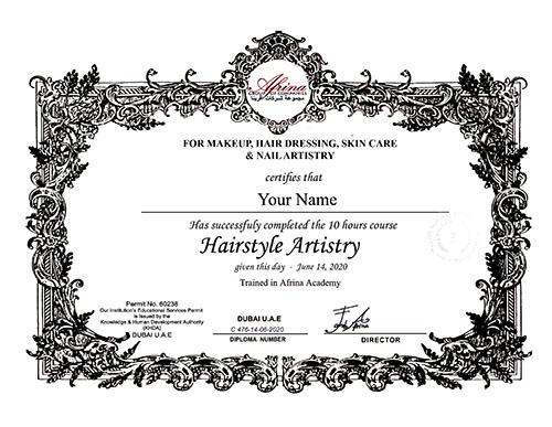 Afrina Certificate