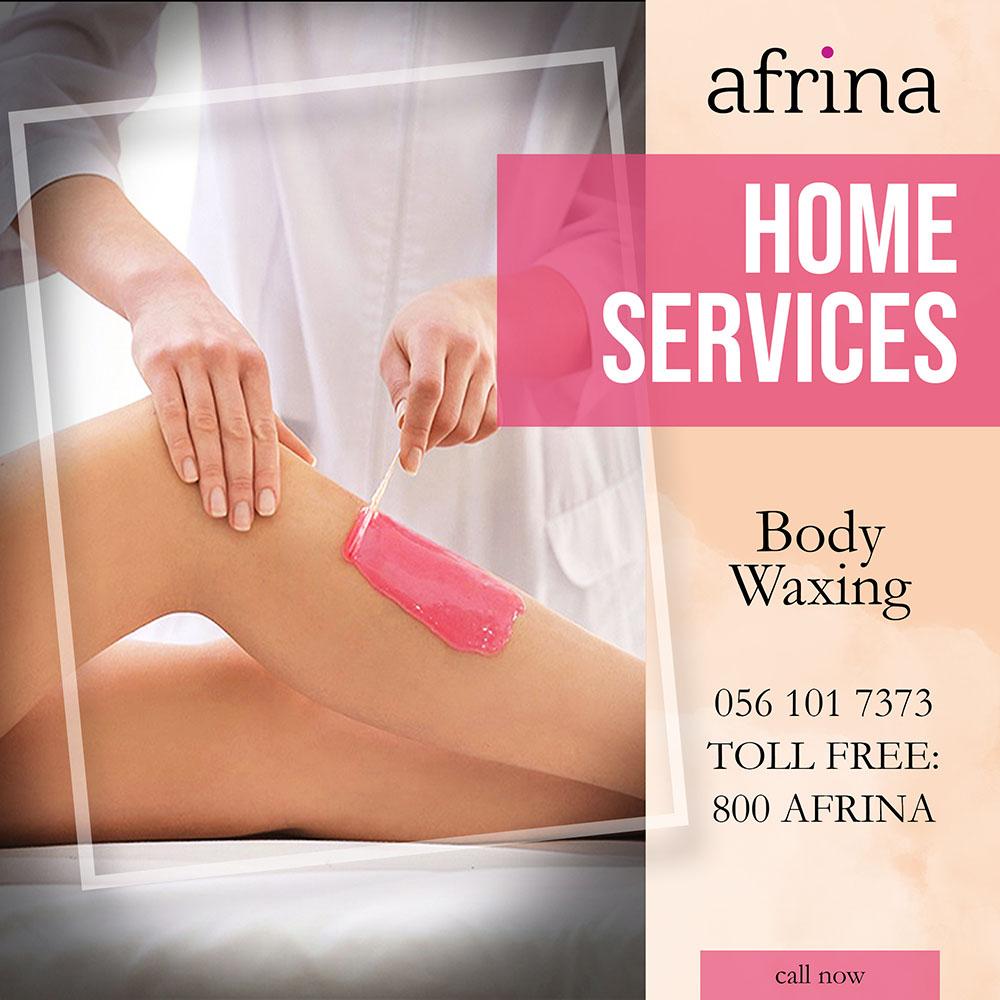 Body Waxing - Afrina home service