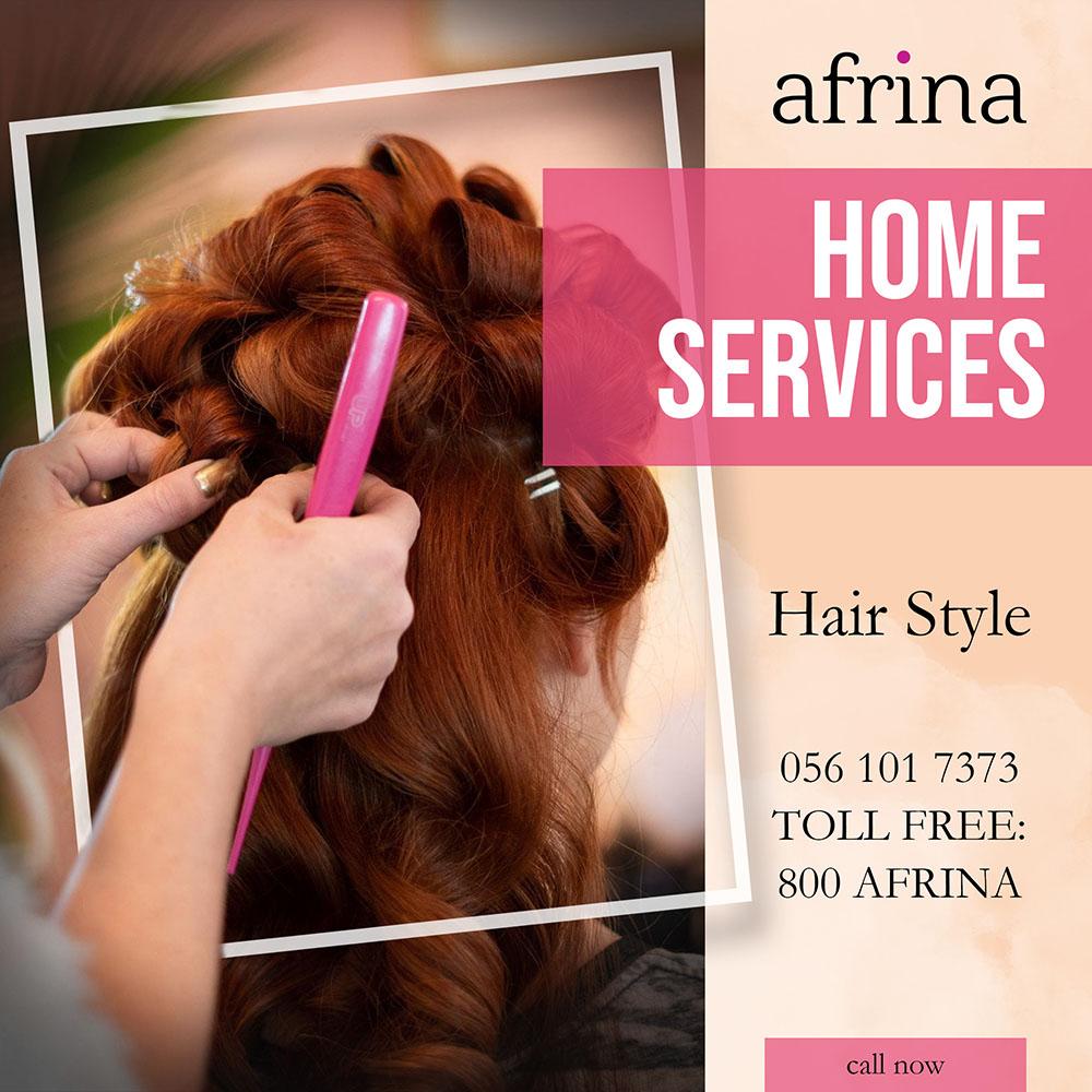 Hair Style - Afrina home service