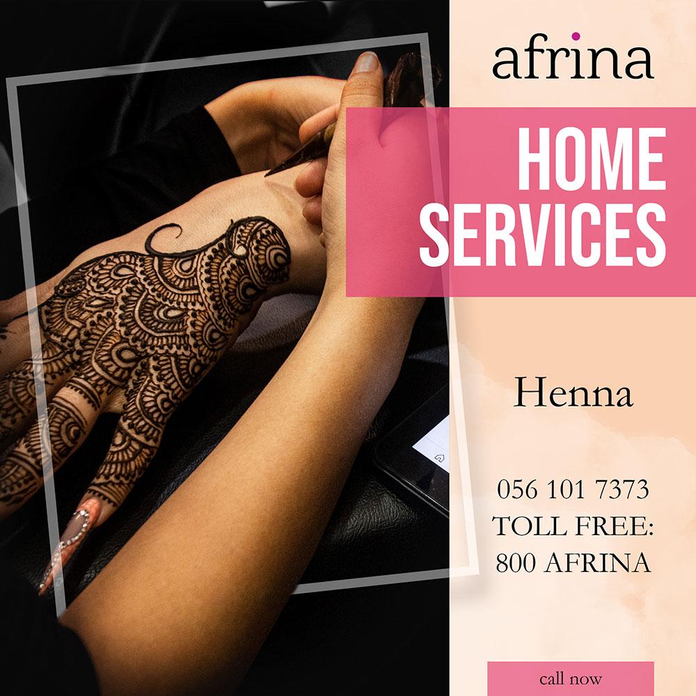Henna - Afrina home service