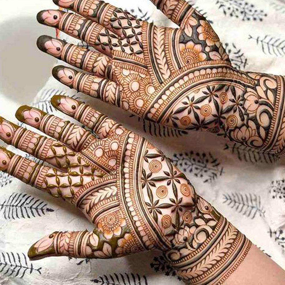 Bride Henna Arabic Half Hand & Feet Simple